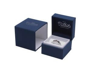 Couture Ring / Earring / Cufflink Box Blue