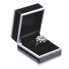 Biba Ring Box Hinged Black
