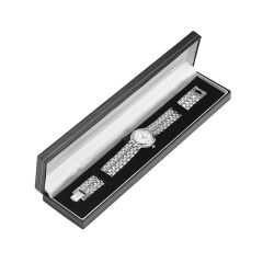 Fastrack Silver Bracelet / Watch Box