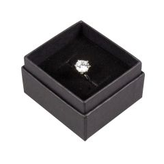 Linen Black Ring Box
