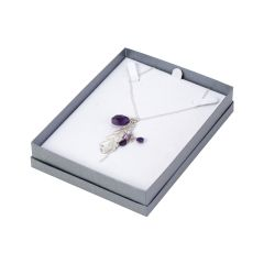 Linen Necklace Box