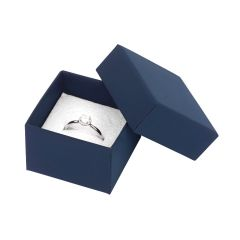 Luxury Cardboard Ring Box Blue